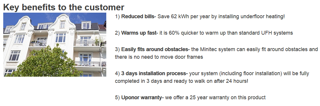 Tomkinson Heating Minitec Uponor